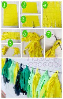 Hazlo Especial Como Hacer Guirnaldas De Papel - Como-hacer-guirnaldas-de-papel-de-seda