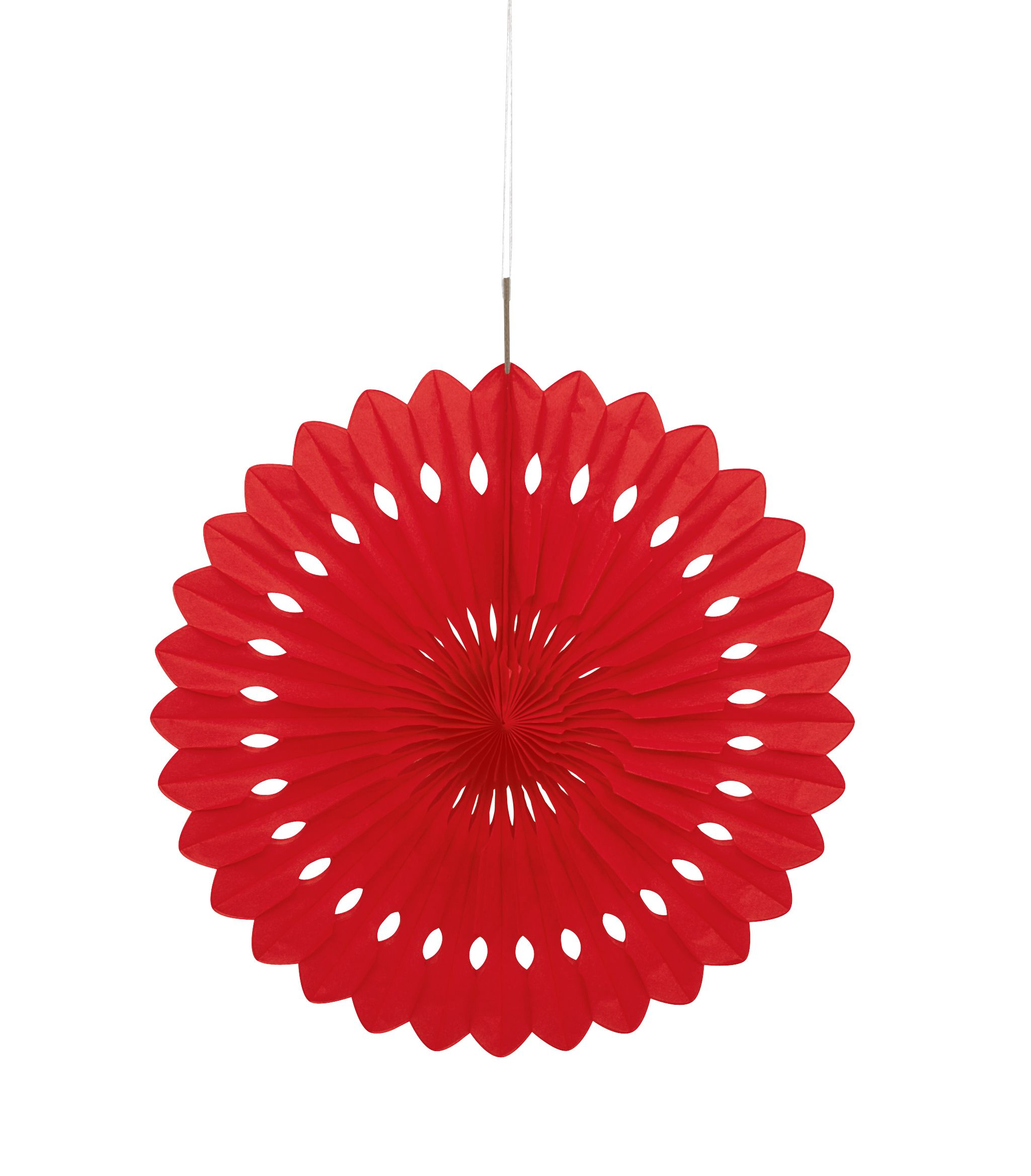 abanico decorativo rojo